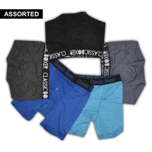 Classic Boxer Shorts For Men-Assorted-NA1104