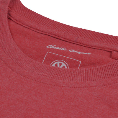 brandsego - Classic Camper Crew Neck Tee Shirt For Men-Light Red-BE4320