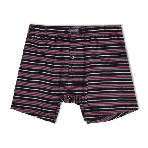 Classic Single Jersey Boxer Shorts For Men-Striped-NA1099