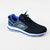 Classic Stylish Sports Lace Up Shoes For Men-Black & Blue-NA10833