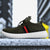 Classic Stylish Sports Lace Up Shoes For Men-Green-Red & Black Line-NA10831