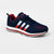 Classic Stylish Sports Lace Up Shoes For Men-Navy & Red-NA10838