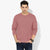 Next Crew Neck Raglan Sleeve Fleece Sweatshirt For Men-Light Red-BE3442