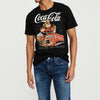 brandsego - Coca-cola Crew Neck Single Jersey Half Sleeve Tee Shirt For Men-Black-NA8467