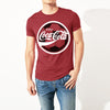 brandsego - Coca-cola Crew Neck Single Jersey Half Sleeve Tee Shirt For Men-Carrot Red-NA8427