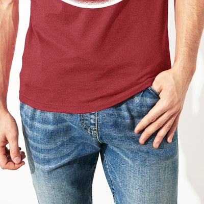 Coca-cola Crew Neck Single Jersey Half Sleeve Tee Shirt For Men-Carrot Red-NA8427