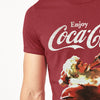 brandsego - Coca-cola Crew Neck Single Jersey Half Sleeve Tee Shirt For Men-Carrot Red-NA8472