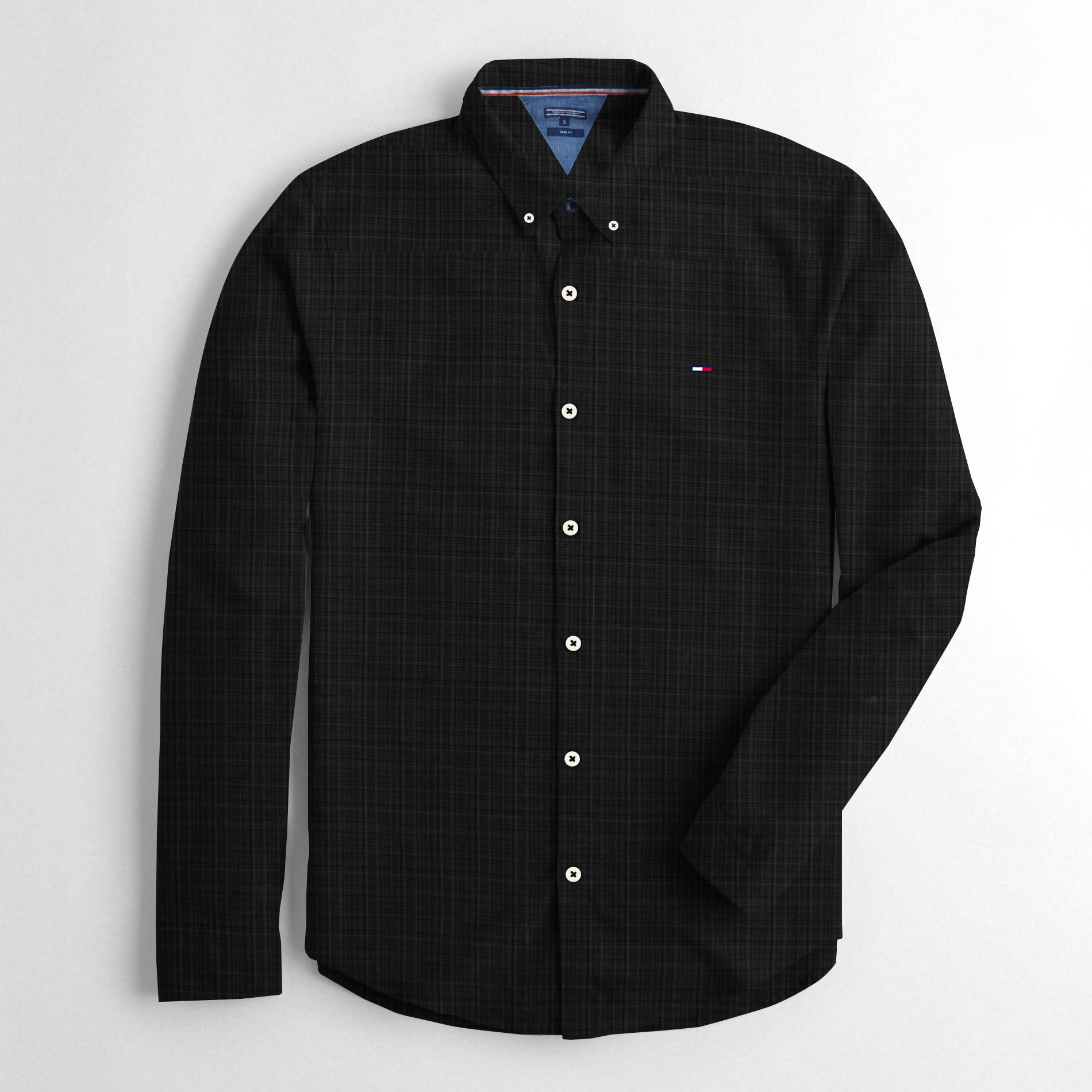 34385828 Tommy Hilfiger Slim Fit Long Sleeve Button Down Casual Shirts For Men- -  BrandsEgo