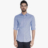"brandsego - Men's ""Uneek"" Full Sleeve Casual Shirt-Light Sky-BE2035"
