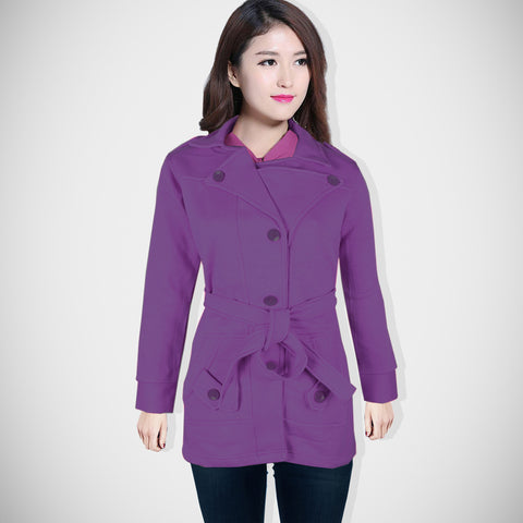 "Ladie's ""Like an Angel"" Stylish Trench Coat Light Purple-LTC03"