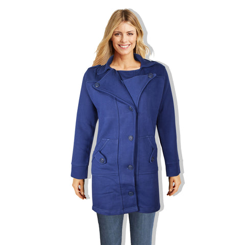 "Ladie's ""COCO"" Stylish Trench Long Coat Navy-LTC21"