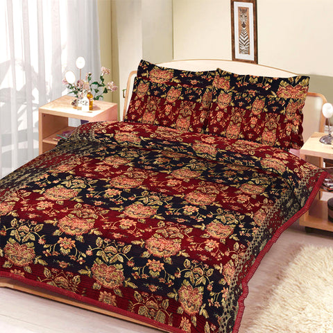 New Tilla Exclusive Jaquard Bed Sheets-TJBS07