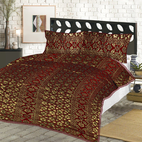 New Tilla Exclusive Jaquard Bed Sheets-TJBS03