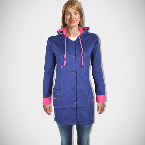 "Ladie's ""COCO"" Stylish Hoodie Coat Royal Blue-LTC09"