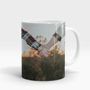 Couple Holding Hands Printed Mug-NA5659