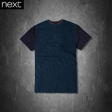 Next T Shirt For Kid Cut Label-Dark Cyan & Navy Melange -PSK18