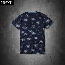 Next T Shirt For Kid Cut Label-Dark Navy Monkey Print-PSK05