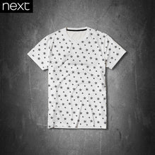Next T Shirt For Kid Cut Label-White & Black Stars -PSK07