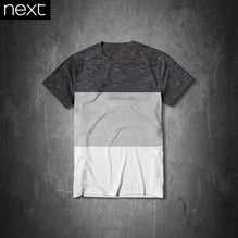 Next T Shirt For Kid Cut Label-White Charcoal Melange Panel-PSK20