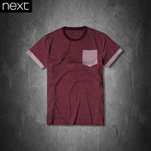 Next T Shirt For Kid Cut Label-Burgundy With White Dott-PSK11