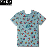 Zara Kids Stylish Sleeping Top Cut Label-Light Sea Green Printed-ZK05