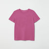 Curious Soul Half Sleeve Crew Neck T Shirt For Girls-Pink-NA6321