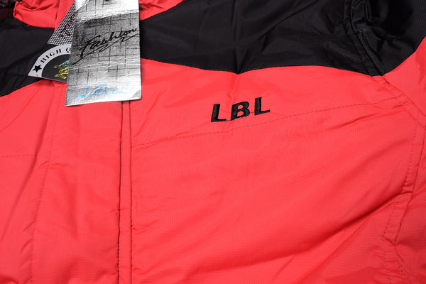 "Men's ""LBL"" Stylish Water Proof Full Sleeve Jacket-Red & Black-MWPJ02"