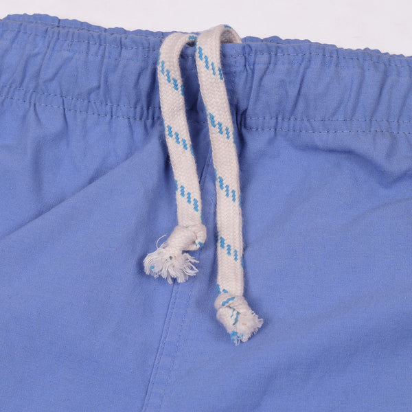 Adidas Cotton Trouser For Men-Sky Blue With Black Stripes-BE2343