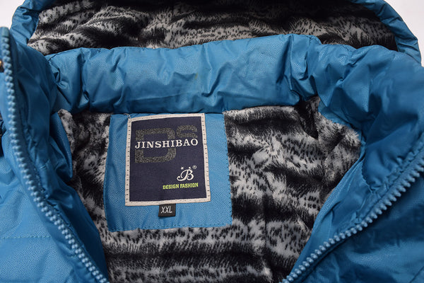 "Men's ""JINSHIBAO"" Stylish Water Proof Zipper Jacket-Ferozi-MJ04"