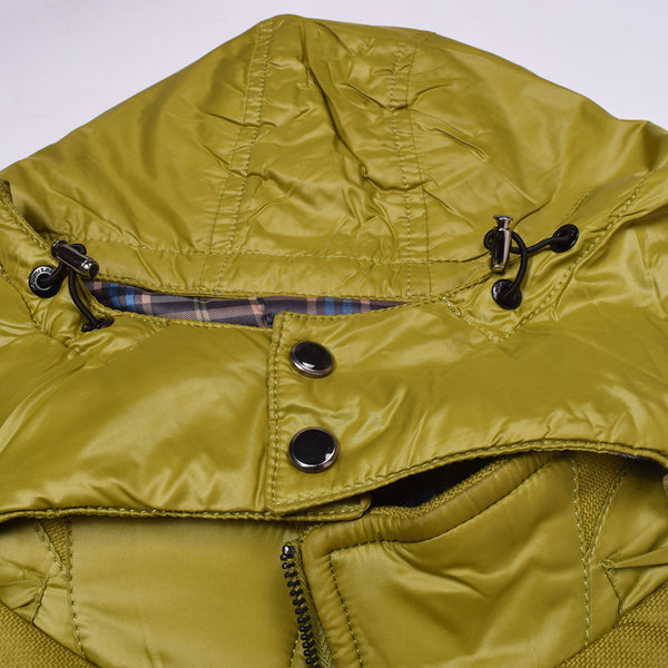 "Men's ""KASHILE"" Stylish Full Zipper Sleeve Less Jacket-Lemon Green-MSS1"