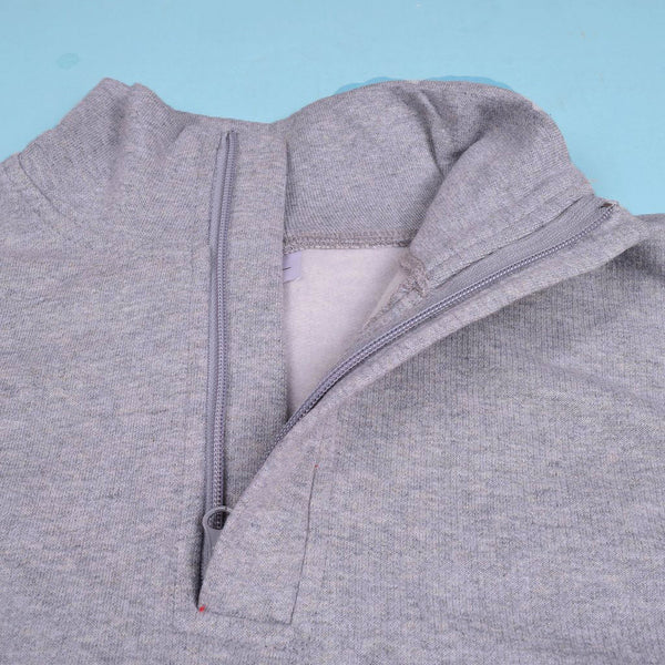 Men's B&C Fashion 3 Quarter Zipper Gray  Mock Neck-m02