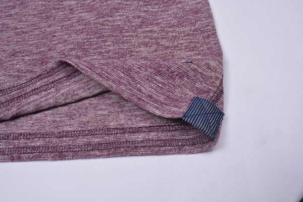 "Men's Cut Label ""Next"" Full Sleeve Henley Shirt-Burgundi Melange-HS82"