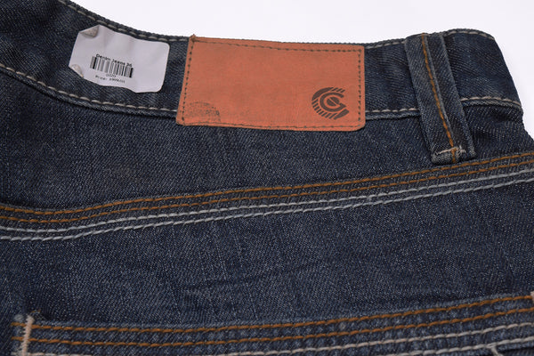Men's  Slim Fit Denim-Dark Blue With Light Wash-ND28