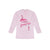 Aris Henley Fleece Blouse For Ladies-Light Pink with Print-BE658
