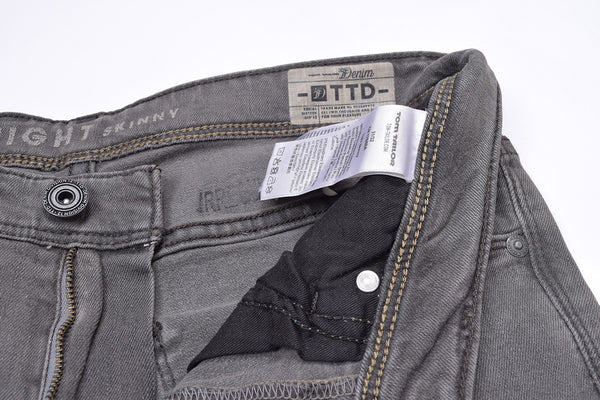 "Men's ""Tom Tailor"" Tight Skinny Fit Denim Gray With Light Wash-ND36"