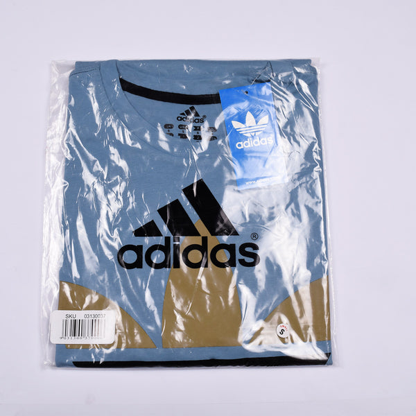"Men's "" ADIDAS "" Printed T Shirt-Bond Blue-BE465"