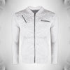 "Men's ""ZARA"" Full Sleeve Baseball Quilting Jacket-Off White-BE507"