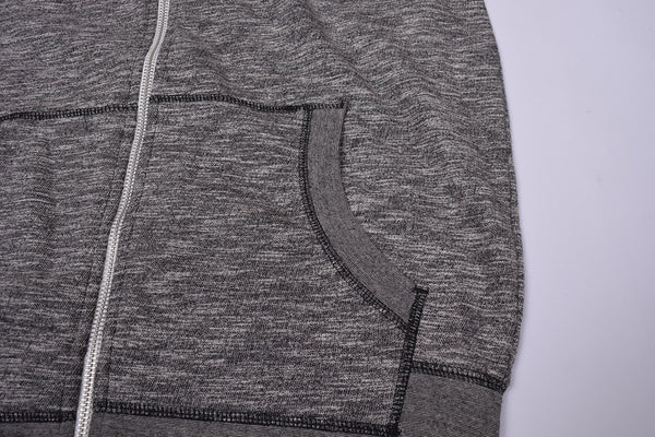 "Kid's Cut Label ""Next"" Zipper Hoodie-Black Melange-(SS81)"
