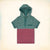 Next Half Sleeve Henley Hoodie T Shirt For Kid Cut Label -Green & Pink Striped-BE3778