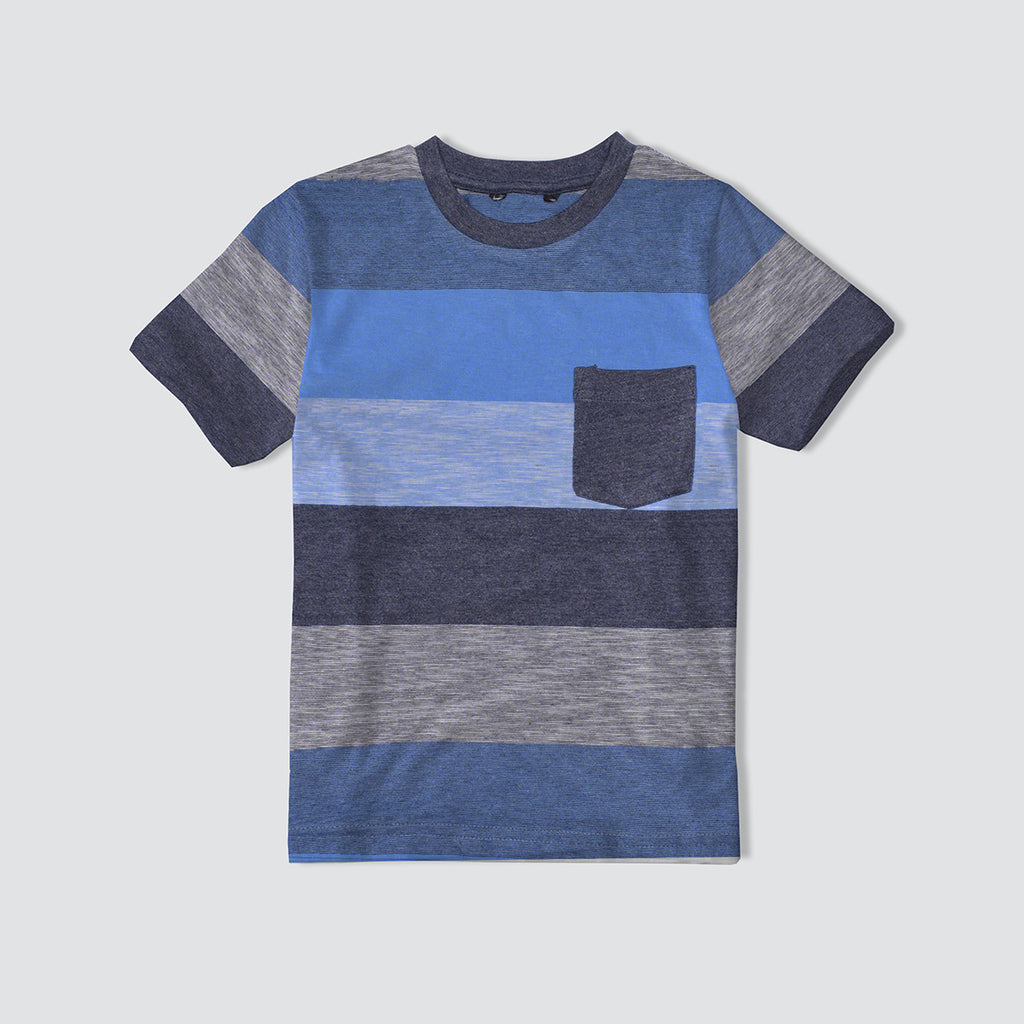 "Kids Cut Label ""NEXT"" Crew Neck Tee Shirt-Yarn Dyed-BE148"