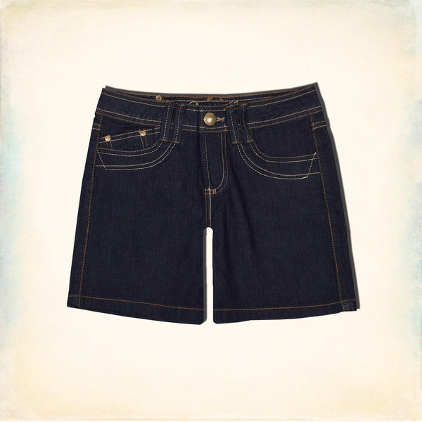 "Ladies  ""Denim.Co"" Denim Short-Dark Navy-LHS04"