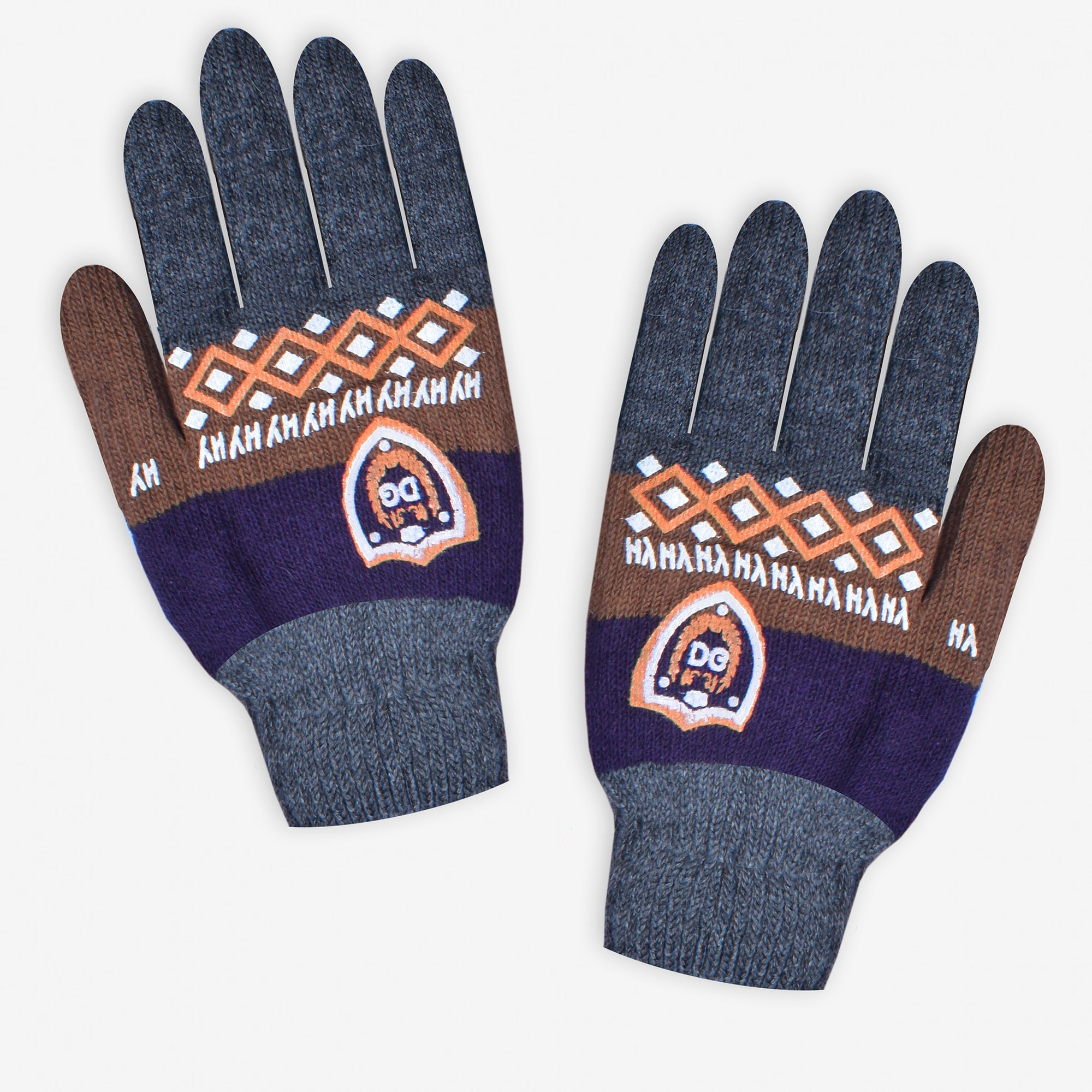 DG Knitted Wool Free Size Gloves For Men-Assorted-NA10253