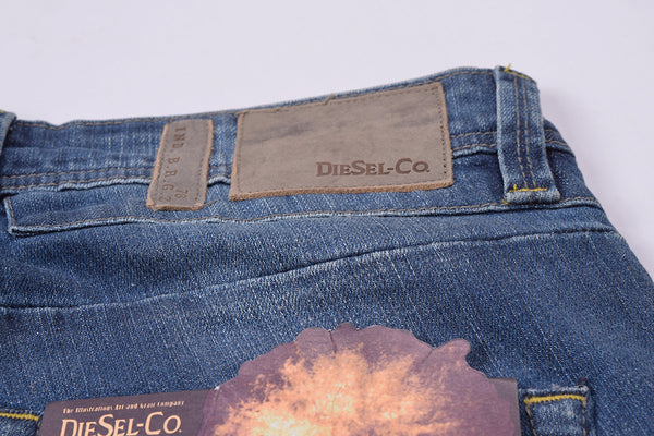 "Men's ""DIESEL"" Blue Slim Fit Strech Denim With Light Blue Wash -ND06"