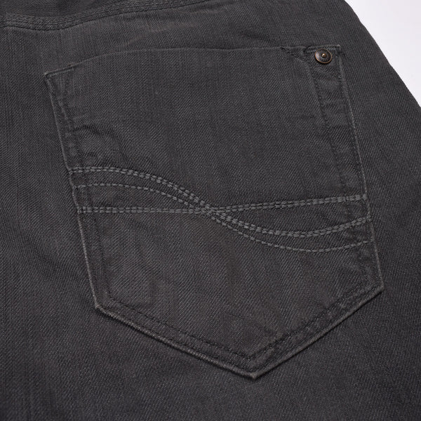 Men Slim Fit Denim Dark Gray With Light Wash-ND37