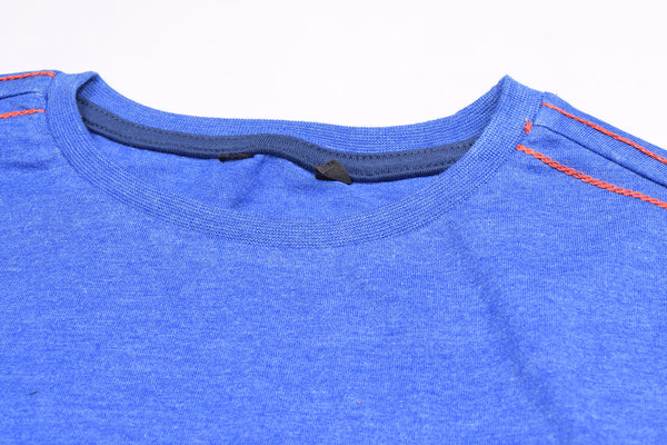 "Kids Cut Label ""NEXT"" Crew Neck Tee Shirt-Blue Melange-BE144"