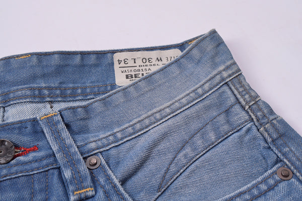 "Men's ""DIESEL"" Blue Slim Fit Denim With Dirty Wash & Grinded Style -ND07"