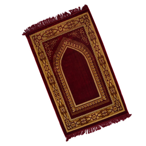Beautiful Jaye-e-Namaz For Prayer-Maroon-JN01