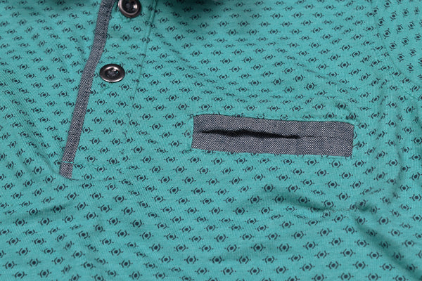 "Kids Cut Label ""NEXT"" All Over Print Polo Shirt-BE149"