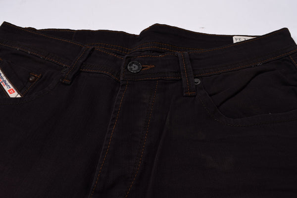 "Men's ""DIESEL"" Dark Bistre Slim Fit Stretch Denim With Light Wash -ND08"