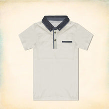 George Half Sleeve Polo Shirt for Kid-Off White-BE2199